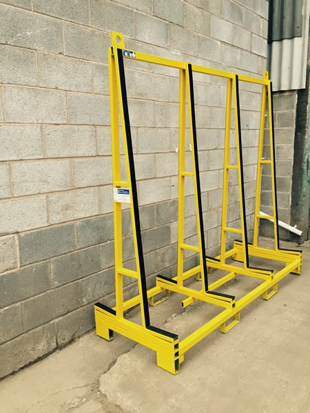 Glass transport stillage - designed and manufactured by HW Engineering